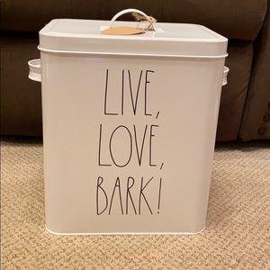 Rae Dunn LIVE LOVE BARK Tin Canister